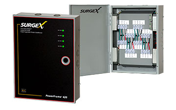 SurgeX PF-420 80 Amp Load Center w/ four 20 Amp Circuits