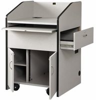AVF Mid-Size Podium with 10RU Rack - PD3006