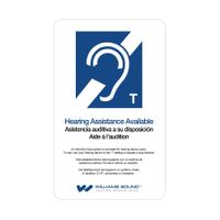 Williams Sound ADA Wall Plaque (T-Coil) - IDP 009
