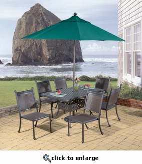 Allegra Rectangular Dining Set of 7 (MF)