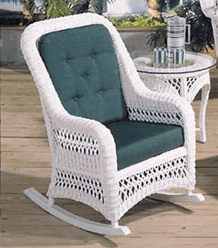 Aquarius Rocker Cushion with Sunbrella & Richloom Premiere Fabrics (UPS $25)