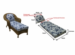 Avon Chaise Lounge Cushions with Fran's Indoor/Outdoor Fabrics (UPS $45)