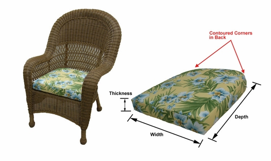 Avon Dining Chair Cushions with Sunbrella & Richloom Premiere Fabrics (UPS $20)