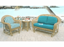 Avon Glider Cushions with Fran's Indoor/Outdoor Fabrics (UPS $25)