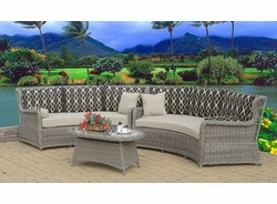 Bahama Wingback 3 Piece Curved Sectional (MF)
