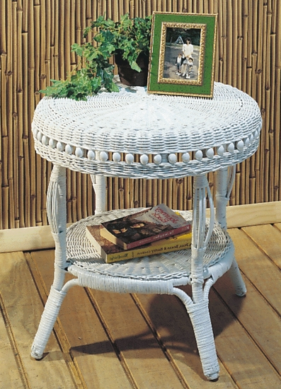 Beaded Accent Table (UPS $45)