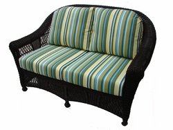 Berkeley Loveseat Cushions with Fran's Indoor/Outdoor Fabrics (UPS $50)