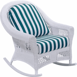 Berkeley Rocker Cushion with Fran's Indoor/Outdoor Fabrics (UPS $25)