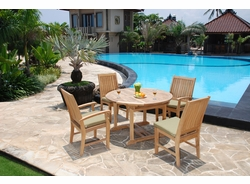 Briena Round Dining Set of 5 with Side Chairs (MF)