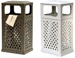 Cast Aluminum Trash Receptacle (UPS $85)