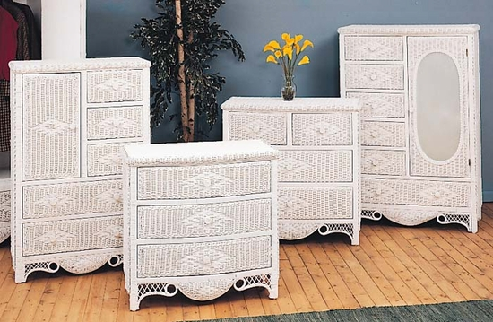 Charlotte Six Drawer Dresser with Mirrored Door (MF)