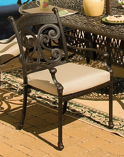 Concord Dining Chair Cushion with Fran's Indoor/Outdoor Fabrics (UPS $20)