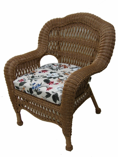 Contour Chair Seat Cushion (UPS $18) with Fran's Indoor/Outdoor Fabrics