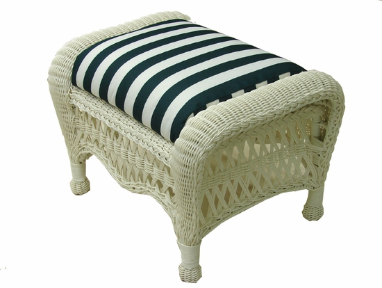 Contour Ottoman Cushion (UPS $18) with Sunbrella & Richloom Premiere Fabric