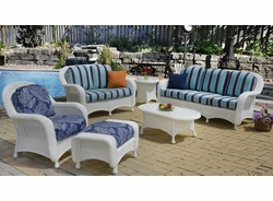Coral Bay Chair Cushions with Fran's Indoor/Outdoor Fabrics (UPS $25)