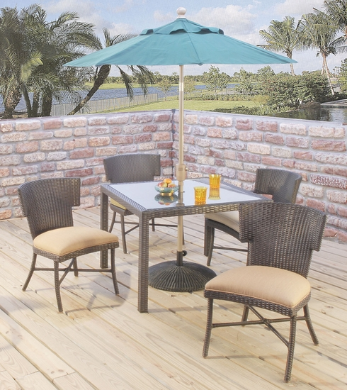 Corsica Square Dining Set of 5 (MF)