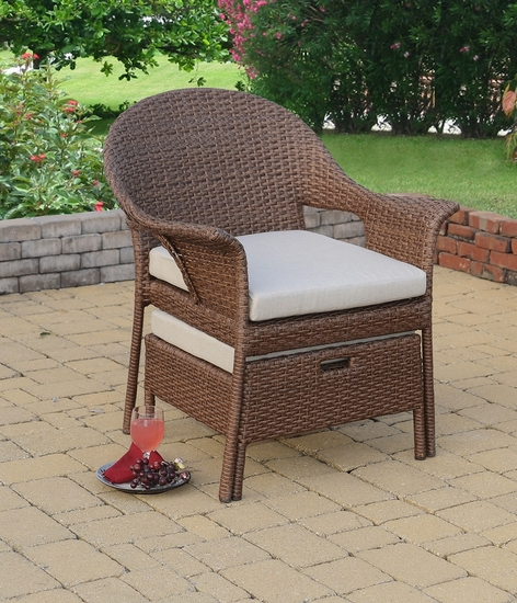 Dartmouth Chair and Stowaway Ottoman (UPS $125)