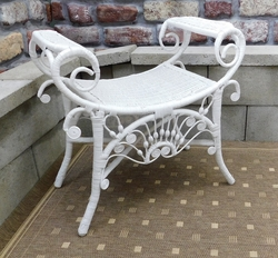 Decorative Wicker Bench (UPS $40)