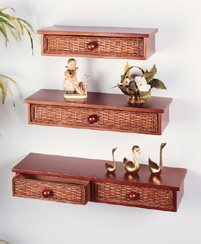 Decorative Wicker Shelves (UPS $25)