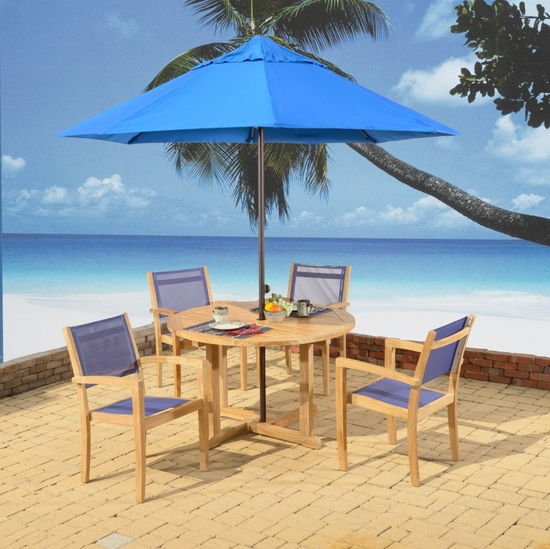 Duke Teak Round Dining Set of 5