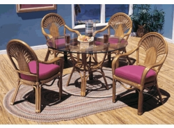 Fan Dining Upholstered Chair Cushion with Fran's Indoor/Outdoor Fabrics (UPS $20)
