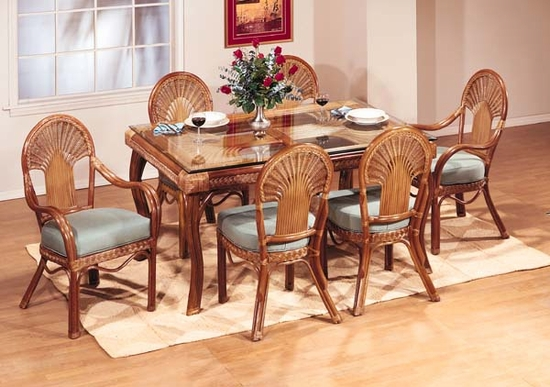Fan Rectangular Dining Set/7 (MF)