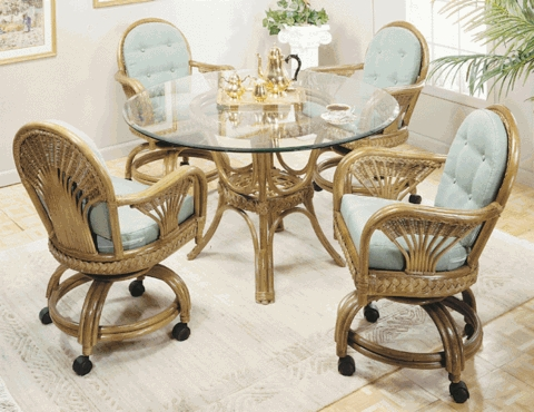 Fan Swivel Dining Chair Cushions with Fran's Indoor/Outdoor Fabrics (UPS $25)