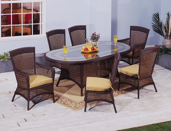 Georgian Oval Dining Set of 7 (MF)
