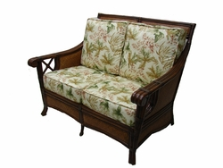 Gramercy Park Loveseat Cushions with Fran's Indoor/Outdoor Fabrics (UPS $50)