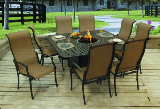 Harbor Square Firepit Dining Table (MF)