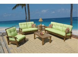 "Imitation Wood ""All Weather"" Aluminum Living Set of 5 (MF)"