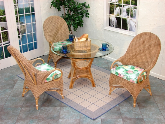 Java Seagrass Dining Set/4 (MF) (20% Off!)