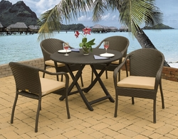 Karina Folding Dining Set of Five (MF)