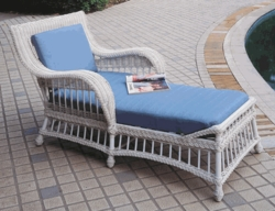 Key Largo Chaise Lounge Cushions with Fran's Indoor/Outdoor Fabrics (UPS $45)