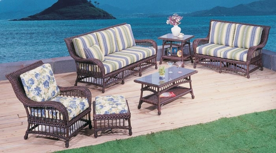 Key Largo Loveseat Cushions with Fran's Indoor/Outdoor Fabrics (UPS $50)