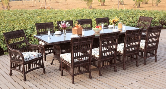 Key Largo Rectangular Dining Set/12 (MF)