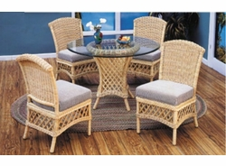 Lanai Five Piece Armless Round Dining Set (MF)