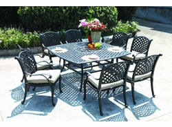 """Lancaster 64"""" Square Dining Table (MF)"""