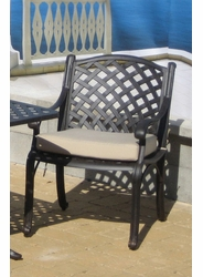 Lancaster Dining Chair Cushion with Fran's Indoor/Outdoor Fabrics (UPS $20)