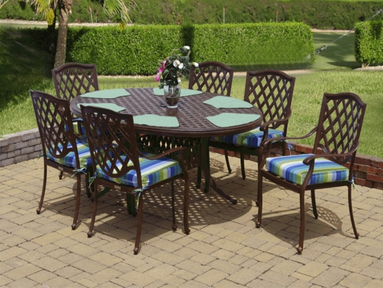 Lancaster Egg Shape Dining Set/7 (MF)