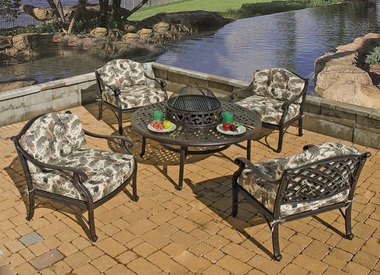 Lancaster Fire Pit & Beverage Set/5 (25% Off!)
