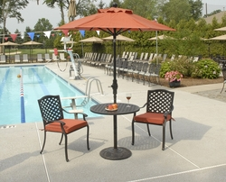 Lancaster Stacking Pedestal Bistro Set of Three