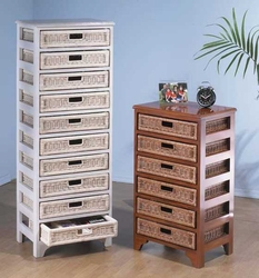 Mahogany Wicker Ten-Drawer (UPS $55)