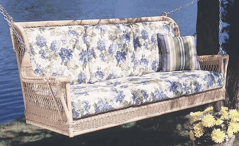 Montclair Triple Swing Cushions with Fran's Indoor/Outdoor Fabrics (UPS $75)