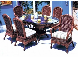 Moroccan Oval Dining Set/7 (MF)