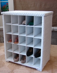 Open Wicker Shoe Cabinet (UPS $85)
