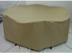 "Outdoor Cover: 60"" Round Table & 8 Dining Chairs (UPS $15)</b>"