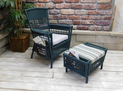 Patio Reading Chair & Ottoman (UPS $95)