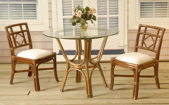 Plantation Rattan Bistro Set of 3 (MF)