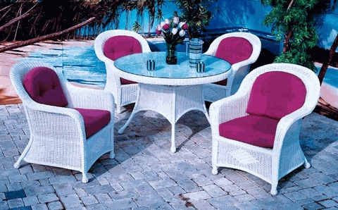 Plymouth Dining Chair Cushions Set of 2 with Fran's Indoor/Outdoor Fabrics (UPS $45)